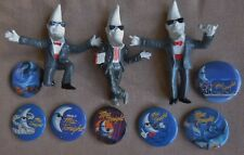 McDonald's Mac Tonight Moonmen Figures (3) & Pin Set (7) 1988 Promotion