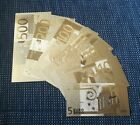 5 - 500 Euro Scheine Geldscheine 24K Gold