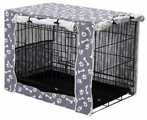 """Dog Crate Cover Durable Polyester Pet Kennel Cover Universal Fit for 24"""""""