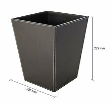 Brown Faux Leather Square Executive Waste Bin 12 Litre