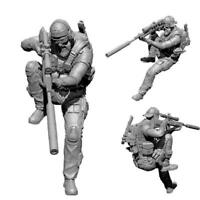 1:35 Soldier Stand Sniper Resin Model Kit Unpainted Figures Milita E9X6 Sol K2Y3