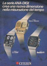 X3013 Orologi CITIZEN serie ANA-DIGI  - Pubblicità d'epoca - 1984 advertising