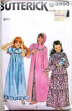 Butterick  young girls nighty and dressing gown Sewing Pattern No. 3990 size 8