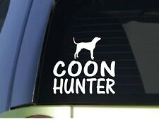 Coon hunter *H903* 6 inch Sticker decal coonhound live trap gps tracking collar