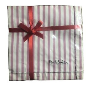 Paul Smith White/Pink Stripe Handkerchief