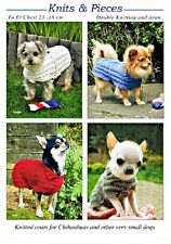 DOG COAT KNITTING PATTERN FOR CHIHUAHUAS AND OTHER TINY DOGS (2 DESIGNS) - NEW