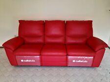 Caliaitalia Designer Sofa 3-Sitzer verstellbar, rot, Leder, bester Zustand