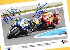 Marc MARQUEZ - Valentino ROSSI - TOP AK Bild (2) Print Copie + Orig.AK signiert