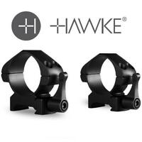 Hawke Precision Steel Ring Mounts Weaver 30mm High or Medium Quick Release Lever