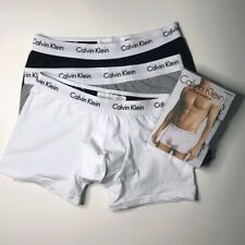 Calvin Klein Men's CK Boxers Low Rise Trunks Underwear 3 in a pack Brand New