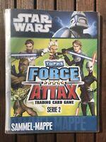 Sammelmappe Star Wars Topps Force Attax Trading Card Game Serie 2-68 Karten 2011