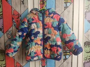 F&F Kids Dinosaur Winter Boys Coat Age 4-5 Good condition Hooded School Coat