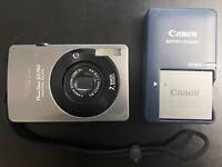 USED CANON PowerShot SD750 DIGITAL ELPH CAMERA w/ BATTERY