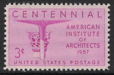 Scott 1089- American Institute of Architects- MNH 3c 1957- unused mint stamp