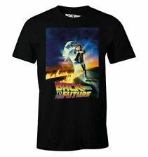Back To the Future Movie Poster Marty Mcfly Delorean Unisex T-Shirt OFFICIAL