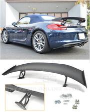 For 13-16 Porsche 981 Boxster GT4 Style Primer Black Rear Trunk Wing Spoiler Lip