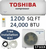 24,000 BTU Ductless Air Conditioner, Heat Pump Mini Split: 17 SEER / 24000 BTU