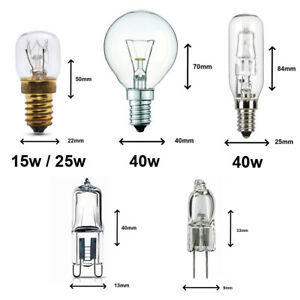 15W / 25W / 40W 300 Degree SES E14 OVEN LIGHT BULBS / COOKER HOOD LAMPS  240v