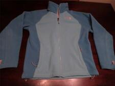 Used Northface Womens Cute Sexy Teal Blue Fleece Soft Spring Jacket Coat Sz S