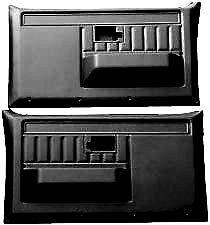 Black Door Panels Molded Plastic for Chevy GMC Blazer Suburban Jimmy C/K Truck