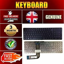 For HP PAVILION 17-F105NA 17-F107NA Black Keyboard UK Layout No Frame