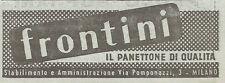 W1251 FRONTINI il panettone di qualità - Pubblicità 1949 - Vintage Advertising