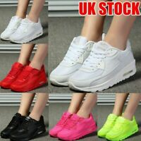 Womens Sport Gym Trainers Air Cushion Lace Up Sneaker Lady Casual Shoes UK 4-6.5