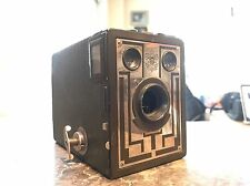 Vintage Antique Kodak Official Boy Scout Brownie Box Camera Art Deco Rare Green