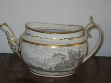 EARLY 19TH CENTURY SPODE BAT PRINT TEAPOT NO LID A/F