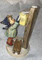 """Hummel Goebel 340 Letters To Santa TMK5 Boy Mailing Letter Figurine 7 1/4"""""""