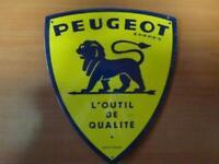 PB54F PLAQUES PUBLICITAIRE tolée age d'or de l'Automobile n°70 21*25cm PEUGEOT