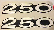 KAWASAKI S1C S1-C S1 KH250 SIDE PANEL DECALS