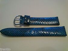 CORREA RELOJ 18 MM PIEL AZUL TIPO SERPIENTE NEW WATCH LEATHER STRAP BAND