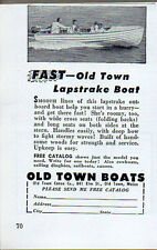 1952 Vintage Ad Old Town Lapstrake Boats Old Town,Maine