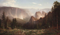 Nice Oil painting landscape Yosemite Valley in Yosemite National Park on canvas