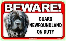 Beware Guard Newfoundland on Duty Dog Sign