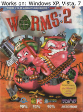 Worms 2 PC Game 1997 Windows XP Vista 7