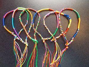 6pcs Handmade Colourful Braided Friendship Bracelets ~uk seller