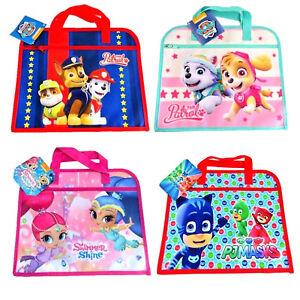 CHILDRENS CHARACTER BOOK BAG BOYS GIRLS DOCUMENT HOLDER BACK TO SCHOOL ART BAGS
