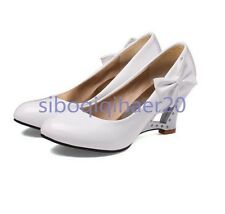 Stylish Shoes Size Women's Bowties Fashion Round Toe Wedge Heels Summer Casual