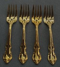 Set of FOUR Towle King Arthur Gold Electroplate Salad Forks