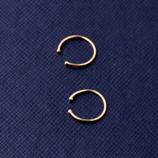 Gold Septum Non Plated Silver Party Fake Nose Ring Clicker Hanger Body Piercing