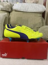 Puma Evopower 4 SG Yellow Football Boots BNIB Size 8uk Men's Retro