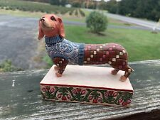 "Jim Shore Heartwood Creek ""Longfellow"" Dachshund Dog Figurine"