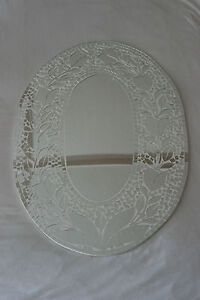 Superb Hand Crafted Mosaic Mirror WithTulips Design 70 x 50 Cm Wide