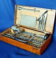 Rare Circa 1910 Antique Russell Jennings Precision Brace & Bit Set No. 1