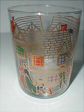 Culver Ltd VICTORIAN CHRISTMAS Barware Double Old Fashioned Glass Tumbler/s (big