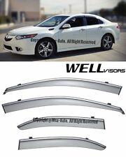 For 09-14 Acura TSX WellVisors Side Smoked Window Visors Rain Guard