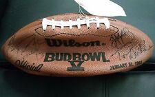 Wilson Bud Bowl Signed Promo football by Kelly, Dorsett, Torreta and more