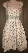 "Boutique ""Sample"" Dress Pink Cream Green Floral Fit & Flare"